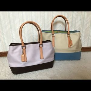 {NWOT} RARE Pair Vintage COACH Satchels (2for$588)